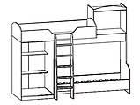 Кровать горка Дисней (Мебель-Сервис)  2942х1062х2180мм дуб светлый , фото 2