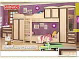 Кровать горка Дисней (Мебель-Сервис)  2942х1062х2180мм дуб светлый , фото 3