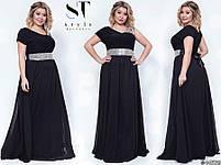 Оригинальное вечернее платье в греческом стиле с  расклешенной юбкой в пол размер Универсальный батал, фото 7