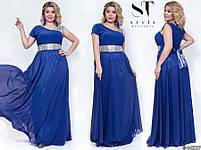 Оригинальное вечернее платье в греческом стиле с  расклешенной юбкой в пол размер Универсальный батал, фото 9
