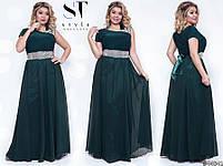 Оригинальное вечернее платье в греческом стиле с  расклешенной юбкой в пол размер Универсальный батал, фото 8