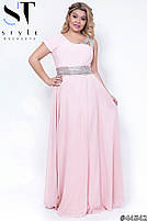 Оригинальное вечернее платье в греческом стиле с  расклешенной юбкой в пол размер Универсальный батал, фото 2