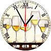 """настенные часы из стекла """"Бокалы шампанского"""""""