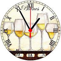 """настенные часы из стекла """"Бокалы шампанского"""", фото 1"""
