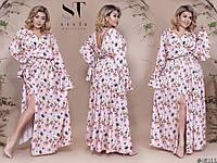 651977e1a70 Шикарное вечернее платье в пол с нежным цветочным принтом с 48 по 54 размер
