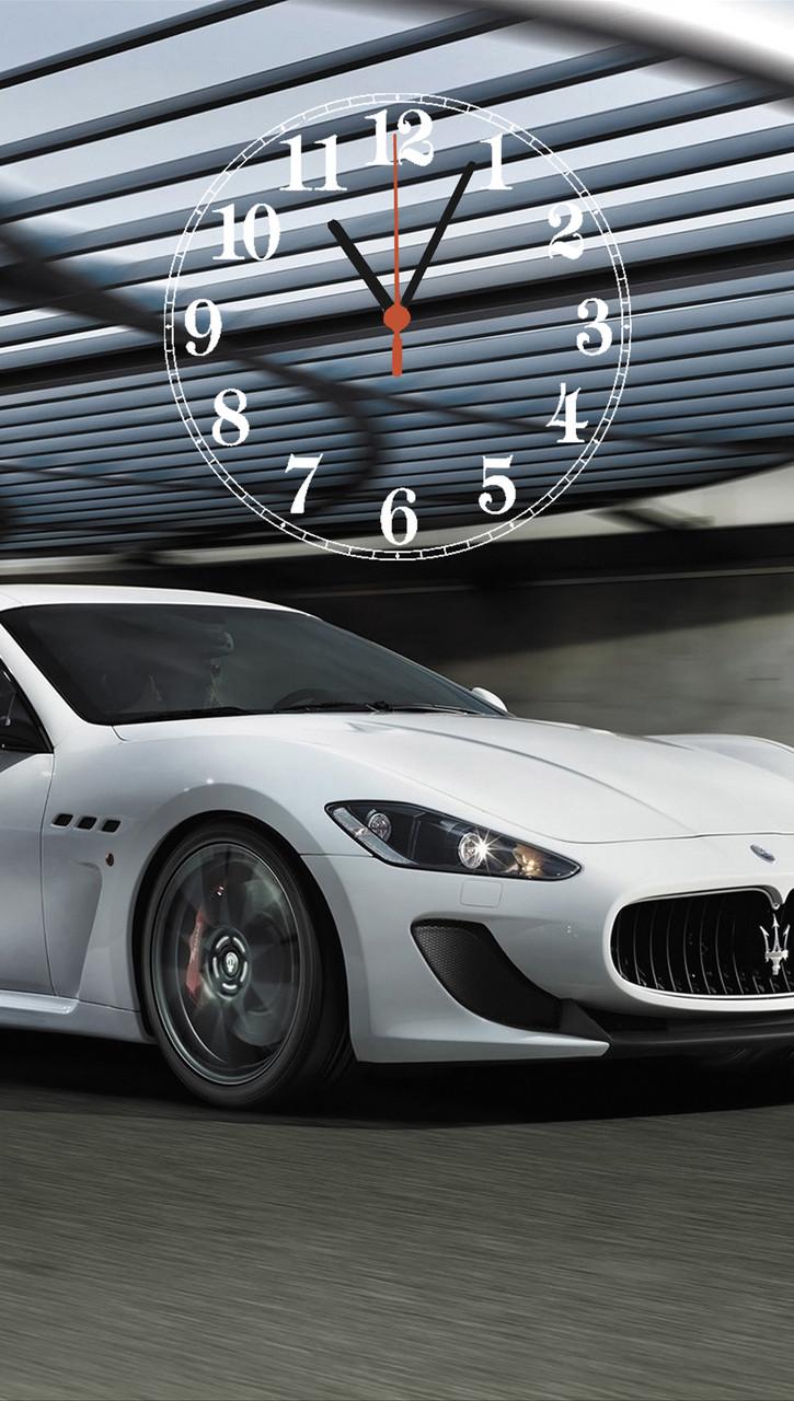 """Часы настенные стеклянные """"Maserati"""""""