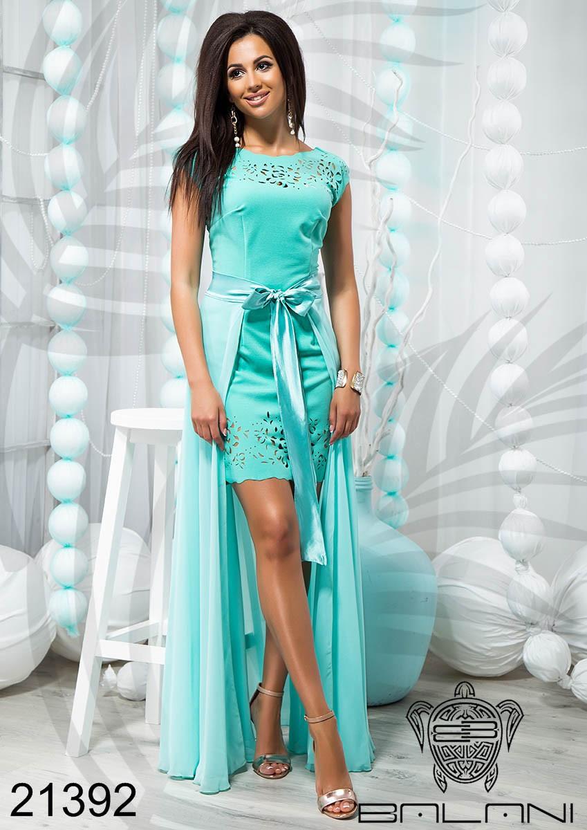 d21585c6503f Стильное короткое платье со съемной юбкой - 21392, цена 771,61 грн., купить  в Хмельницком — Prom.ua (ID#945562803)