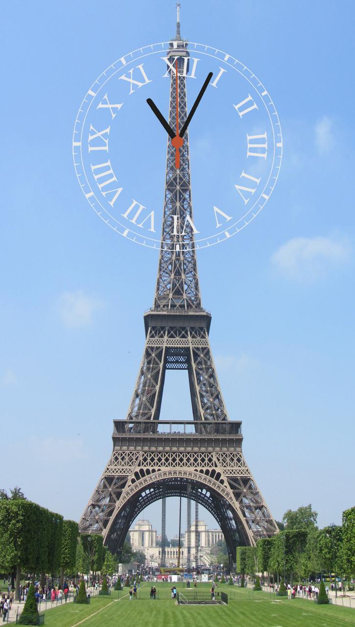 """Часы настенные стеклянные """"В Париже"""""""