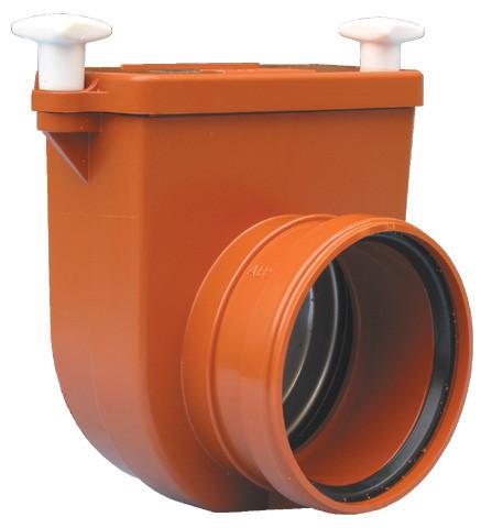 HL710.0 Механический канализационный затвор для колодцев из ABS, с заслонкой из нерж. стали.
