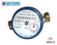 """Счетчик воды одноструйный BMeters GSD8 DN 1/2"""" (Qn=2.5 м.куб. в час) до 30° С  (Италия) База 110 мм."""
