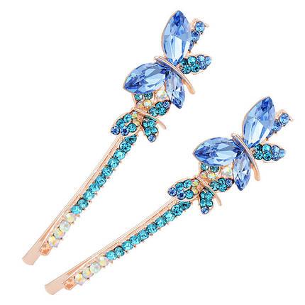 Sweet Crystal Butterfly Hairclip Fashion Head Аксессуары для волос Женское Подарок - 1TopShop, фото 2