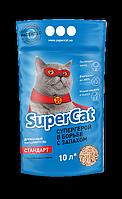 Наповнювач SuperCat Standart СуперКет Стандарт деревне для котячого туалету 3 кг