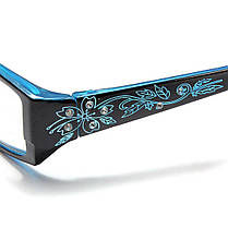 Синий женский алмазный цветок кадр дальнозоркостью очки для чтения очки 1.0 1.5 2.0 2.5 3.0 3.5 4.0 - 1TopShop, фото 3