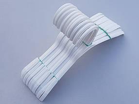 Плечики вешалки тремпеля V-V26 белого цвета,длина 26 см, в упаковке 10 штук, фото 3
