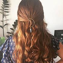 Многоцветный натуральный камень Волосы Clip Hollow Moon Шарм Волосы Аксессуары для Женское - 1TopShop, фото 3