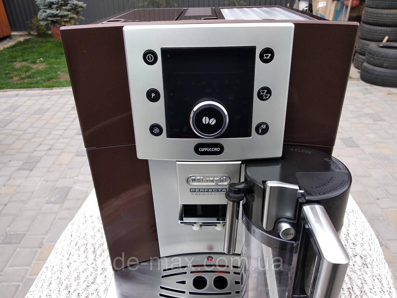 Кофемашина  Кофеварка Делонги Delonghi Esam 5500 Perfecta с молочником коричневая