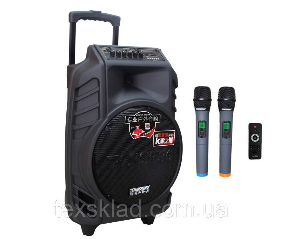 Портативна акустика з мікрофонами SL 12-08 (USB/Bluetooth/2 радіомікрофона)