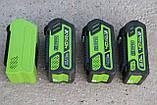 Аккумуляторы  Greenworks G MAX G40B4 40 V, фото 5