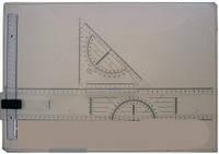Доска для черчения формат А3 (линейка-фиксатор чертежа,дополнительный зажим для фиксации листа, угольник)