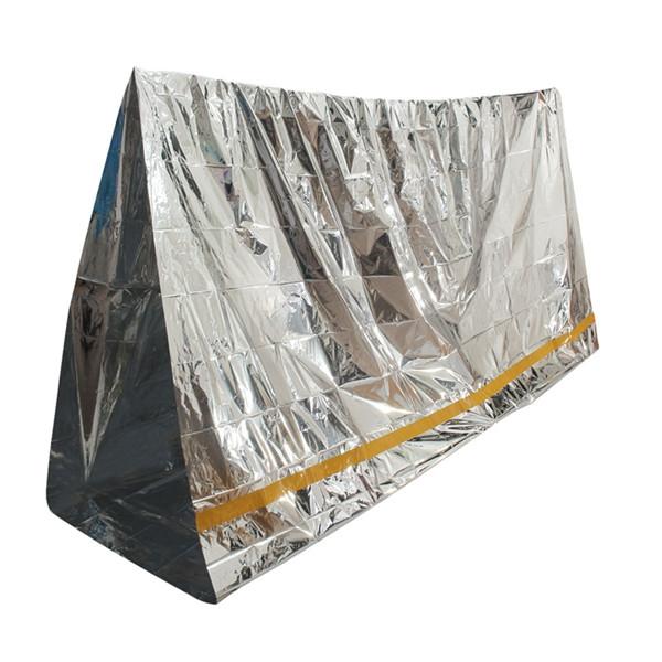 Emergency Aluminized Зонт Одеяло Первая помощь изоляции спальный мешок на открытом воздухе кемпинга выживания 100 х 200см - 1TopShop