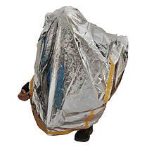 Emergency Aluminized Зонт Одеяло Первая помощь изоляции спальный мешок на открытом воздухе кемпинга выживания 100 х 200см - 1TopShop, фото 2
