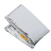 Emergency Aluminized Зонт Одеяло Первая помощь изоляции спальный мешок на открытом воздухе кемпинга выживания 100 х 200см - 1TopShop, фото 3