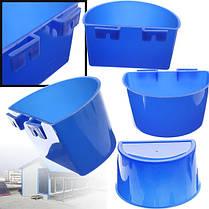 1PCS Синий висящий податчик воды Кейдж чашки Животные Пищевые миски Чашка для домашних животных - 1TopShop, фото 3