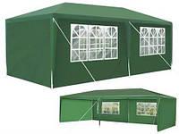 Павільйон торговий садовий 3x6 м Намет Павільон 18м² Шатер Палатка Торгова будка альтанка , зелений