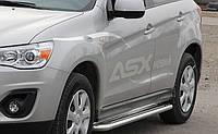 Пороги боковые Mitsubishi Outlander 2006-2012 /Ø50