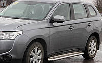 Пороги боковые Mitsubishi Outlander 2012- /Ø50