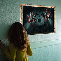 УжасстенынаклейкиИскусствоГлавнаяДекоративные Хэллоуин стены стикер девушка Ghost сломанной стены наклейки - 1TopShop, фото 2