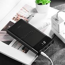 Power bank (Внешний аккумулятор) Hoco B35E Entourage 30000mAh c 3xUSB и LED индикацией (Черный), фото 2