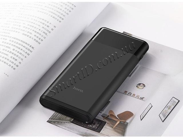Power bank Внешний аккумулятор Hoco B35E Entourage 30000mAh c 3xUSB и LED индикацией Черный