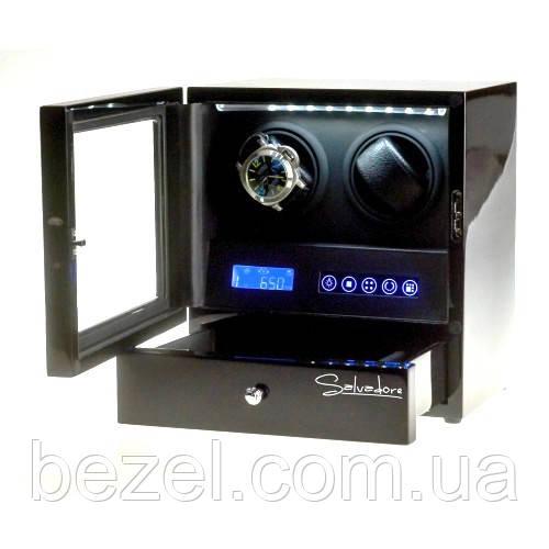 Шкатулка  Salvadore для подзавода часов S-2/02-LB 2x2+