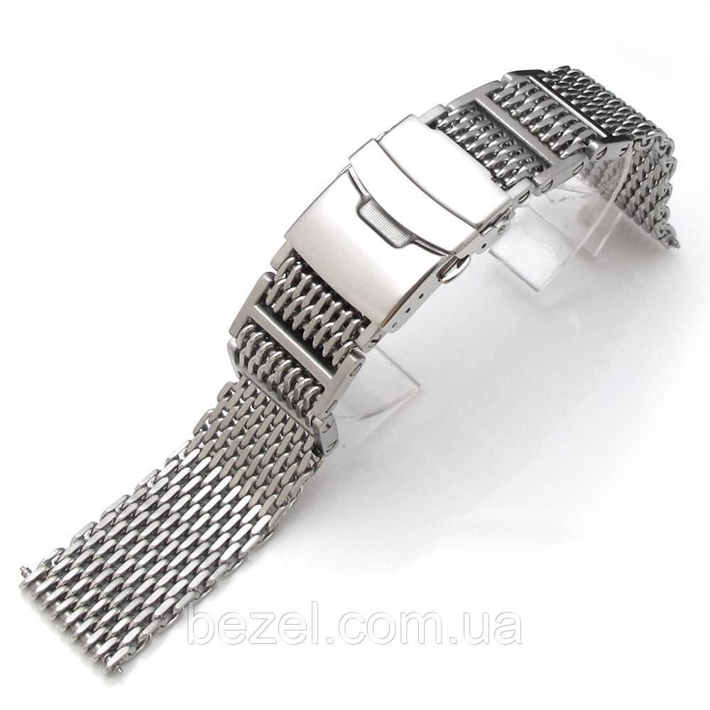 19mm, 20mm, 21mm or 22mm Flexi Ploprof 316 Reform SHARK Mesh Band, Brushed 316L Stainless Steel
