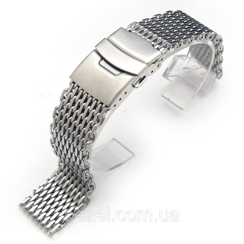 19mm or 20mm Ploprof 316 Reform Stainless Steel SHARK Mesh Watch Band Diver Strap B