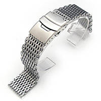 19mm or 20mm Ploprof 316 Reform Stainless Steel SHARK Mesh Watch Band Diver Strap B, фото 1