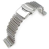 19mm, 20mm Ploprof 316 Reform Stainless Steel SHARK Mesh Watch Band Diver Strap P, фото 1