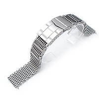 19mm or 20mm Flexi Ploprof 316 Reform SHARK Mesh Band, 316L Stainless Steel, Submariner Diver Clasp, B