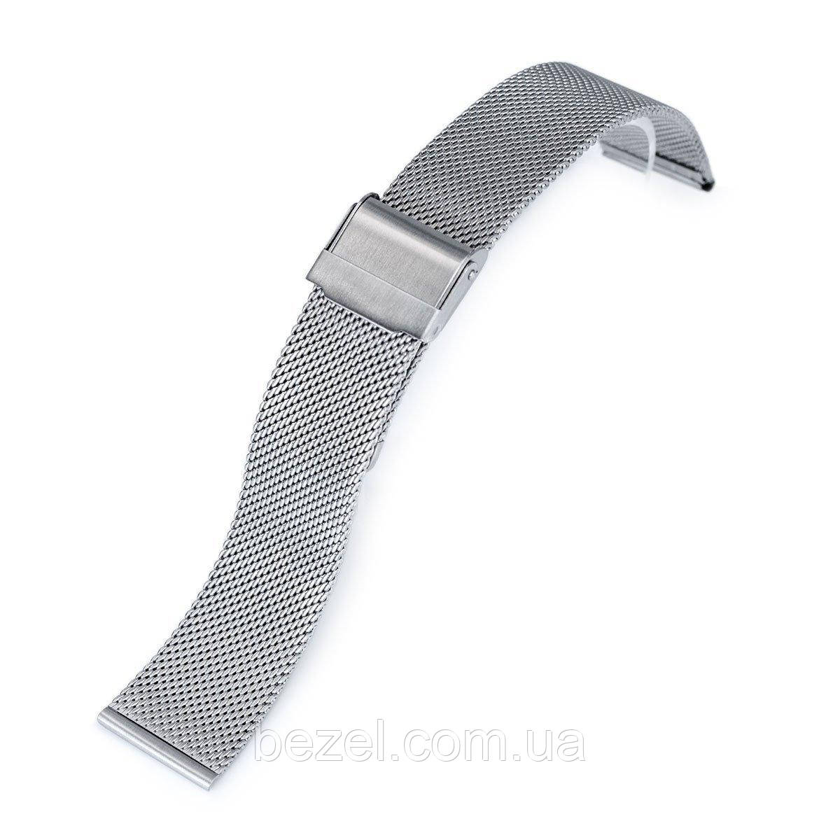 18mm, 20mm or 22mm Classic Vintage Knitted Superfine Wire Mesh Band, Brushed
