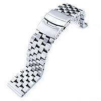 SUPER Engineer Type II Solid Stainless Steel Straight End Watch Band-Push Button