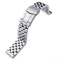 19mm, 20mm or 21mm SUPER Engineer Type II Solid Stainless Steel Watch Band, Solid Submariner Clasp