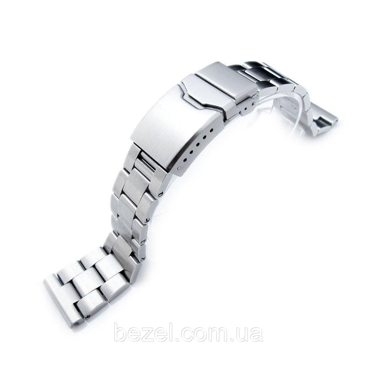 19mm, 20mm or 21mm Super Oyster Watch Bracelet Straight End Lug, Chamfer Clasp with Button