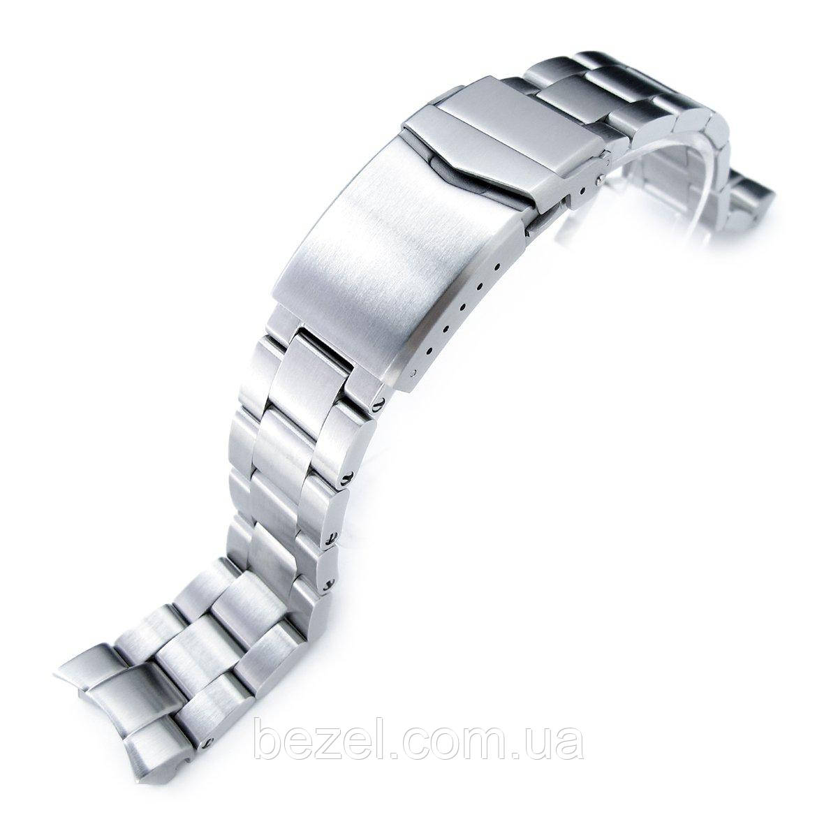 20mm Super Oyster 316L Stainless Steel Watch Band for Seiko SKX013, V-Clasp Button Double Lock