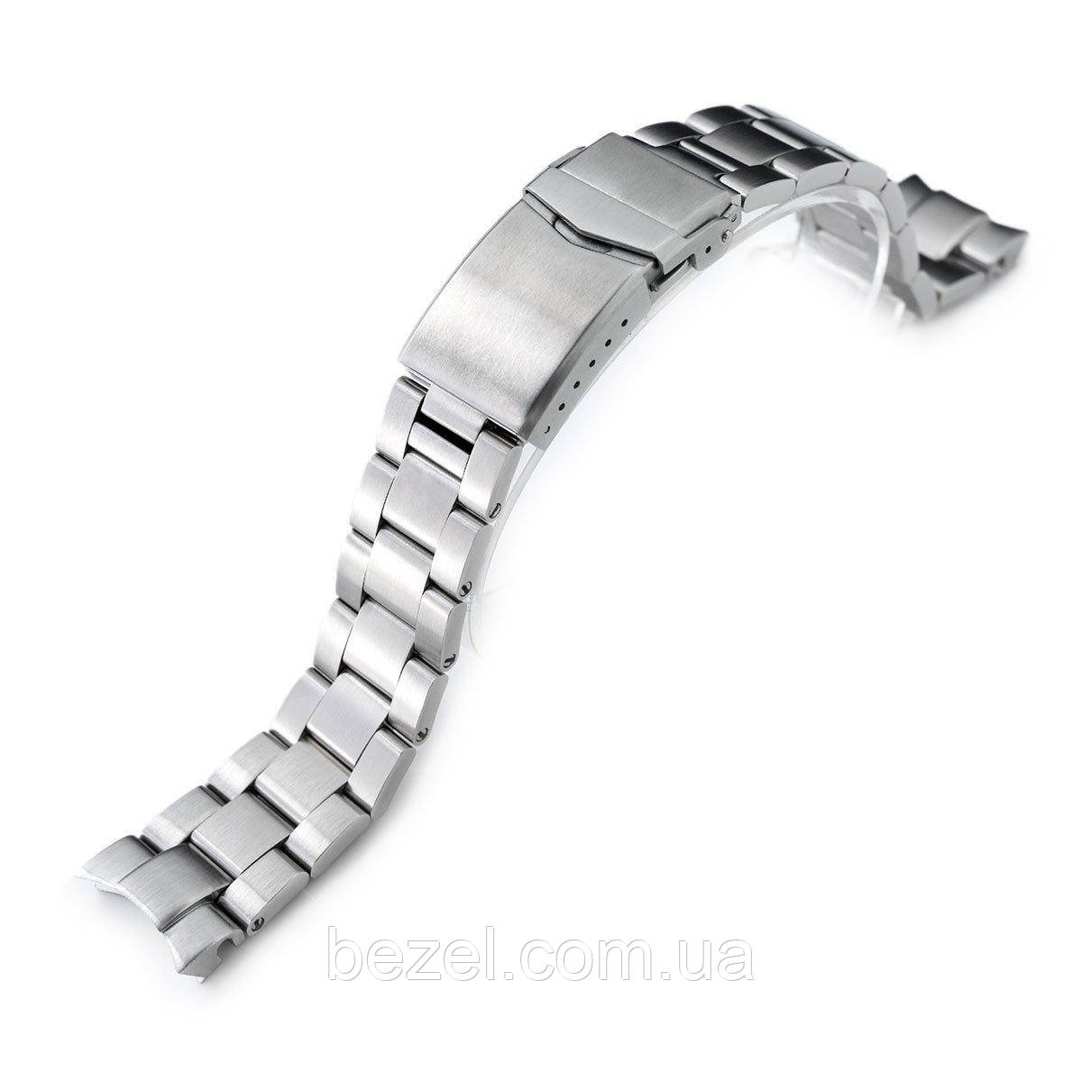 20mm Super 3D Oyster watch band for Seiko Alpinist SARB017, Brushed, V-Clasp Button Double Lock