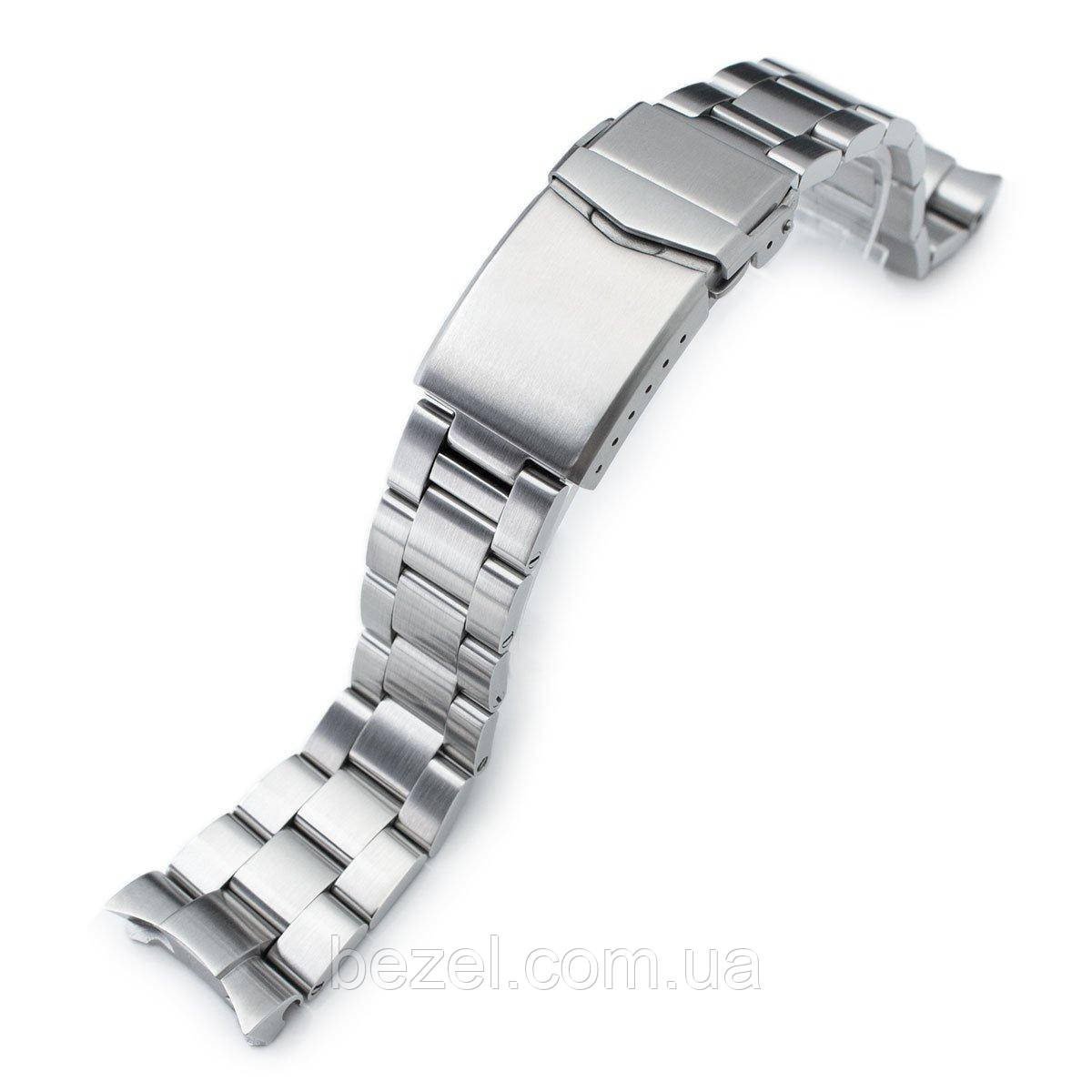 22mm Super 3D Oyster watch band for SEIKO Diver SKX007/009/011, Brushed, V-Clasp Button Double Lock