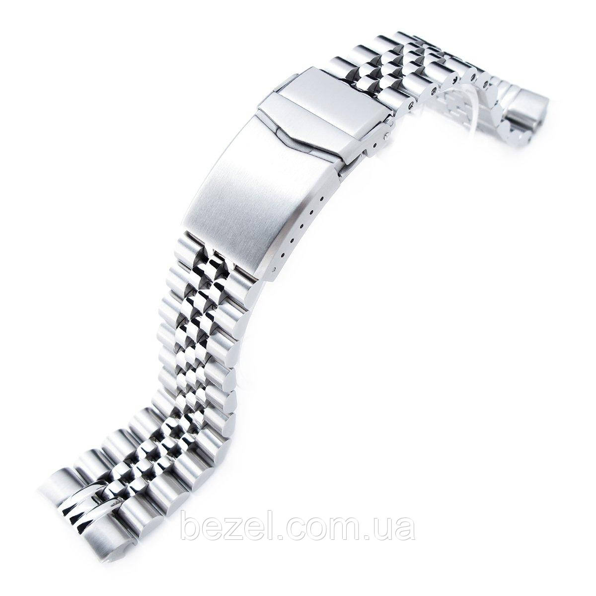 22mm Super 3D Jubilee 316L Stainless Steel Watch Bracelet for Seiko New Turtles SRP777 & PADI SRPA21, V-Clasp Brushed