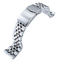 22mm ANGUS Jubilee 316L Stainless Steel Watch Bracelet for Seiko SKX007, Brushed/Polished, V-Clasp, фото 1