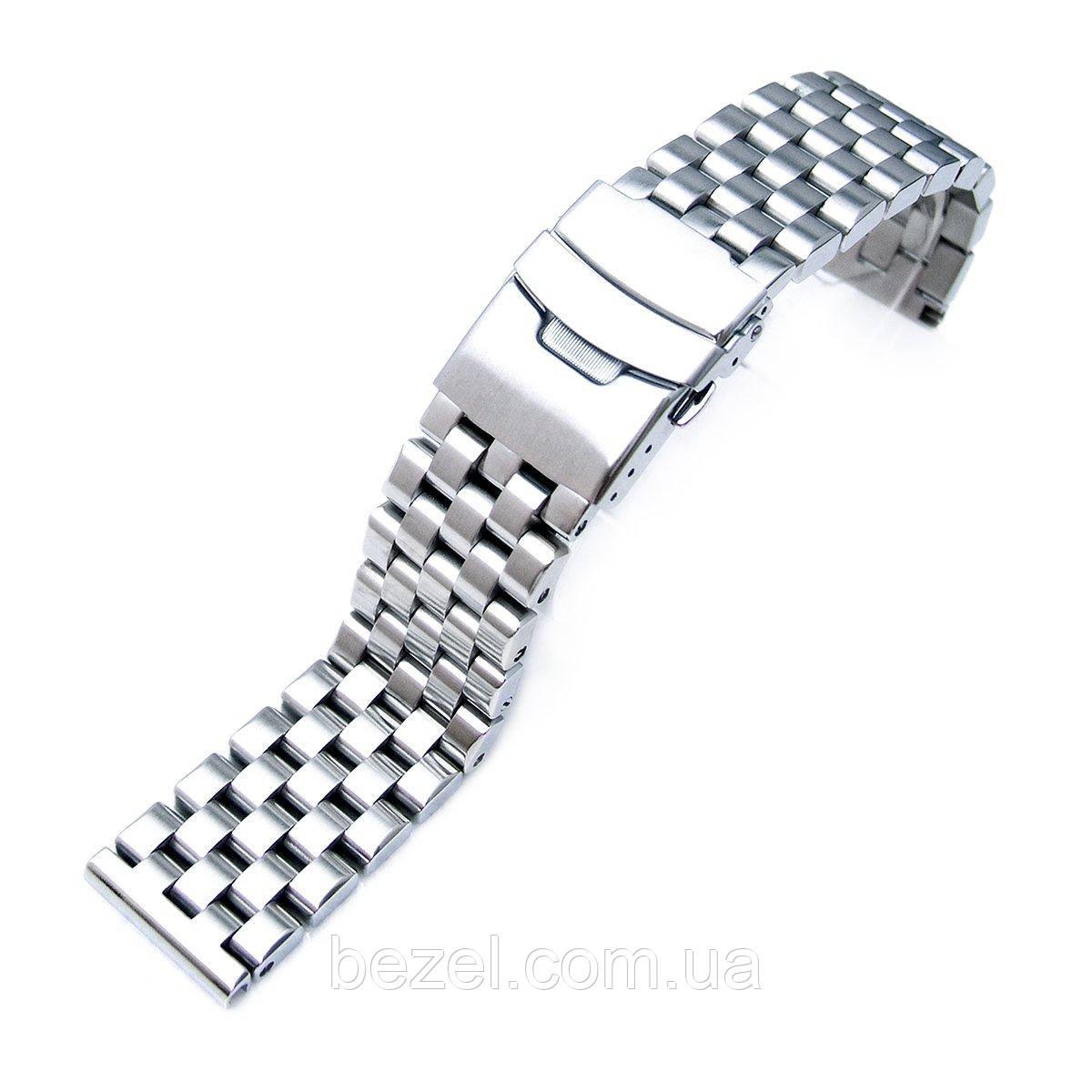 20mm, 22mm or 24mm Brushed Super Engineer Solid Link 316L Stainless Steel Bracelet , Straight Lug