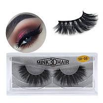 1Pair 3D Mink Волосы Black False Ресницы Макияж Косметика Handmade Thick Natural Long - 1TopShop, фото 2